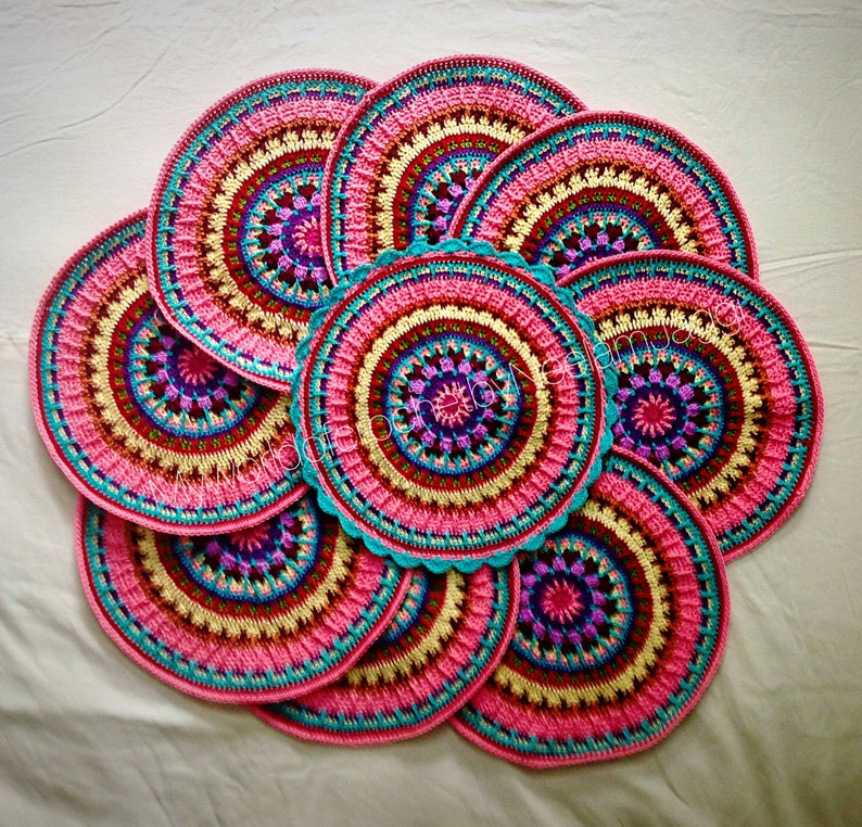 Crochet Place mat Pattern  Crochet mandala pattern image 0
