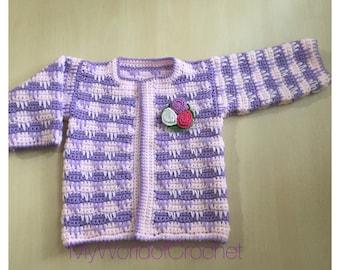 Crochet pattern for baby Jacket bolero top , cozy winter jacket for baby girl pattern, Crochet Pattern in 3 sizes