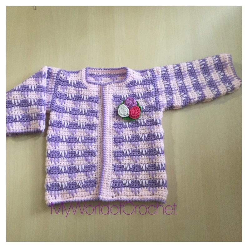 a32b44207bbd Crochet pattern for baby Jacket bolero top cozy winter