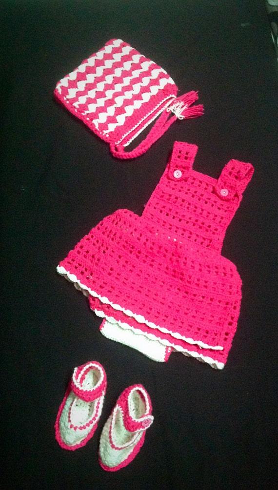 Diaper Set Crochet Jumper Diaper Cover Underneath The Skirt Etsy