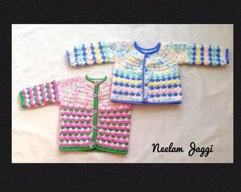 Baby Sweater PATTERN, Baby Crochet Sweater PATTERNS, Crochet Baby Sweater, Sweater Jacket, Baby girl ,baby boy sweater , 2 patterns