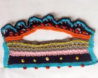 Crochet bracelet pattern -Jewelry bracelet crochet pattern, bohemian unique bracelet, beads bracelet,Bracelet Cuff,Cuff bracelet pattern B22