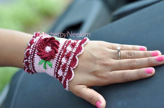 Crochet Bracelet Pattern Jewelry Bracelet Crochet Pattern Etsy
