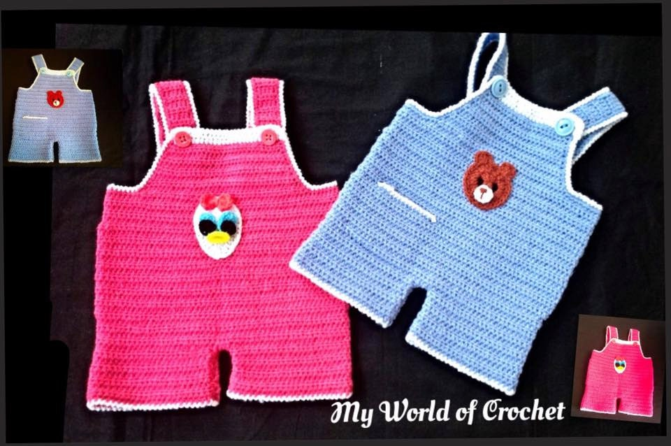 Baby Boy Girl Crochet Dungaree Overalls Romper Twins Etsy