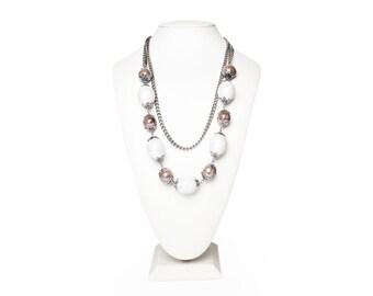 Multi strand Necklace, Mulistrand Necklace, Multocolored Beaded Necklace, Long Beaded Necklace