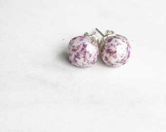 Drop Earrings made with dried flower petals item #110470