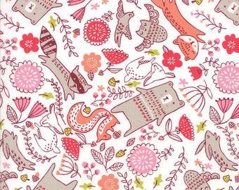 Travel Lite sheet, Pink woodland  portable crib bedding,  Pack n Play sheet, woodland animals crib sheet, Custom Made to Order