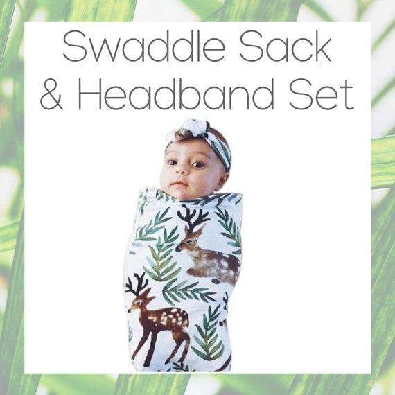 8d7a009af3 SWADDLE SET Swaddle Sack   Headband 0-3 Months swaddling