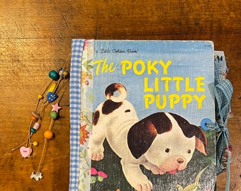 The poky little puppy junk journal, photo album, dog album, scrapbook
