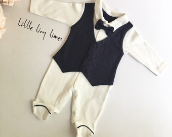 7285f9ade5a7 Baby bow tie onesie