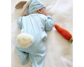 720201d73 Baby Easter outfit-Newborn coming home outfit- Baby girl newborn outfit-Newborn  bunny outfit, Bunny hat-Bunny romper, Infant bunny costume