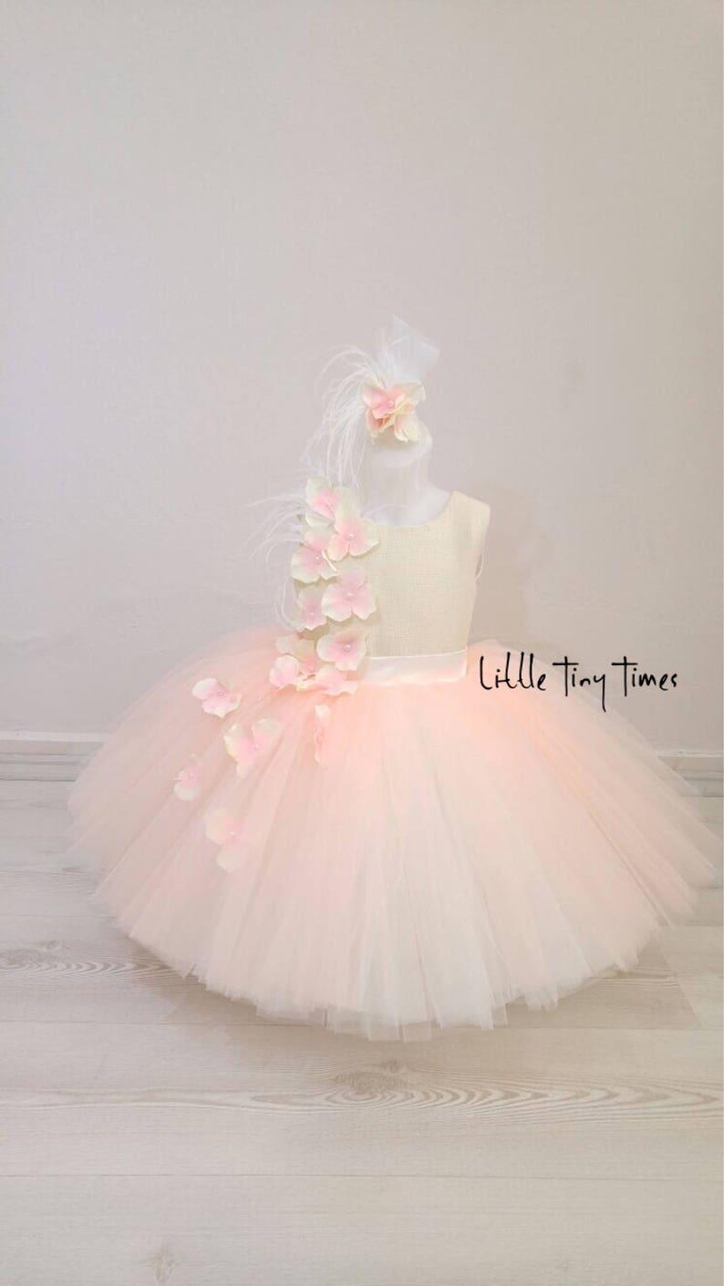 4ef36b2e96 Baby girl dress Toddler fancy pageant dress ivory dress for