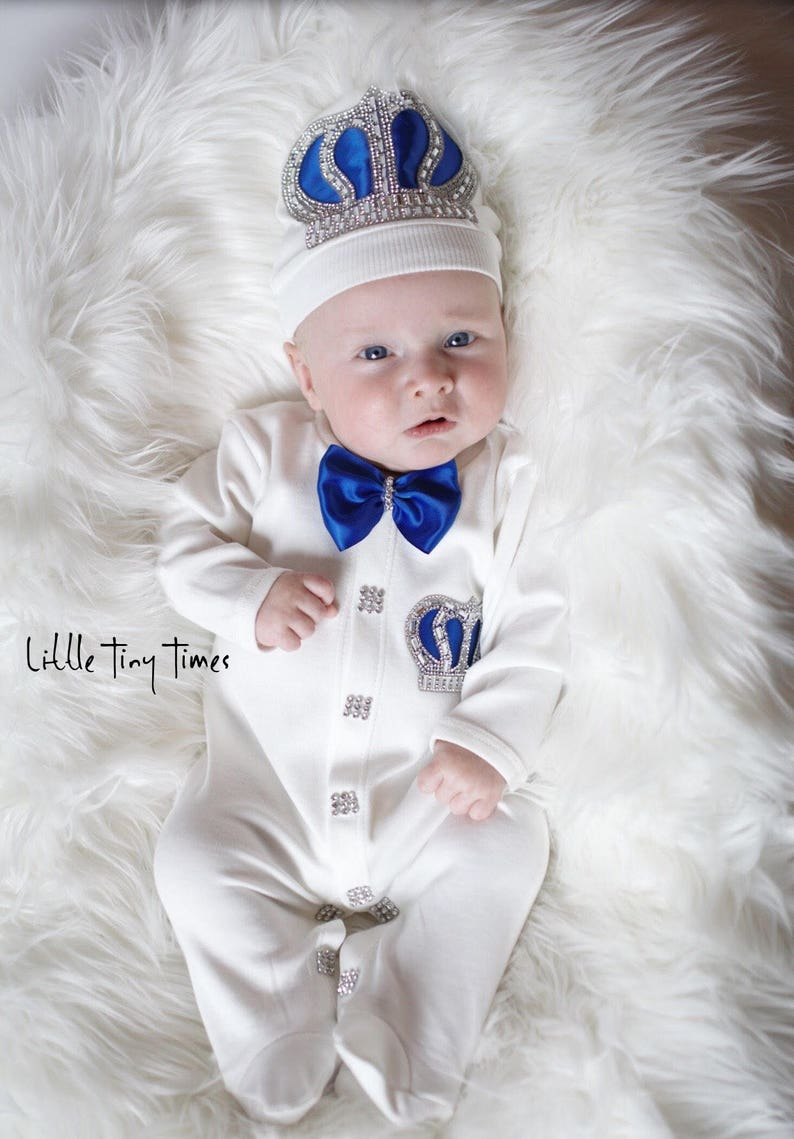 1b20a6c4d06 Newborn boy coming home outfit Royal prince baby shower Baby