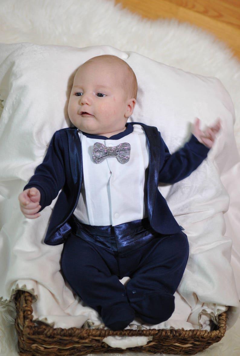 199e70a39388 Navy tuxedo for baby boy Baby Tuxedo Baby boy wedding