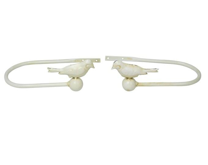 Cream Decorative Bird Curtain Holder Tie-back Set