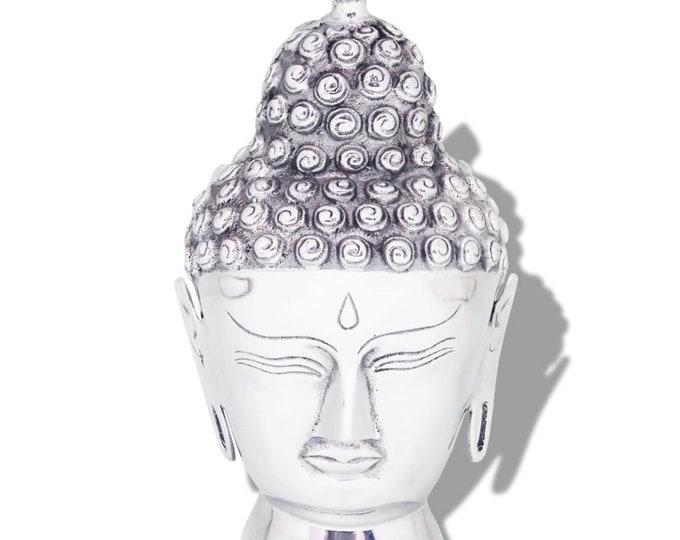 Shabby Chic Style Aluminium Buddha Head Decoration