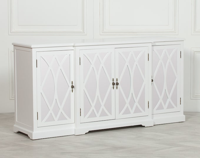 Breakfront White Mirror Front Sideboard