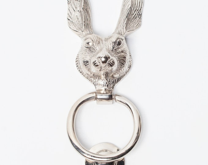 Stunning Polished Chrome Rabbit or Hare Shaped Door Knocker