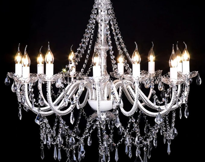 Stunning 1600 Crystal 12 Branch Chandelier