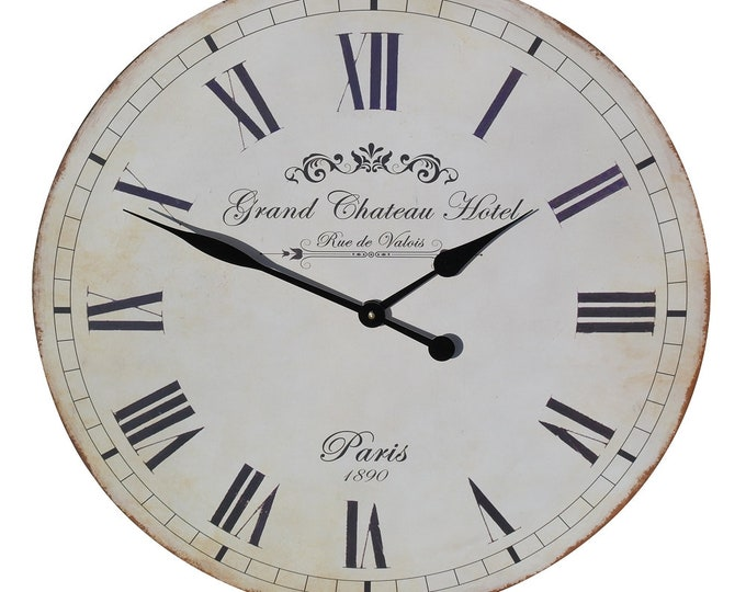 60 cm Vintage Style Grand Chateau Hotel Wall Clock