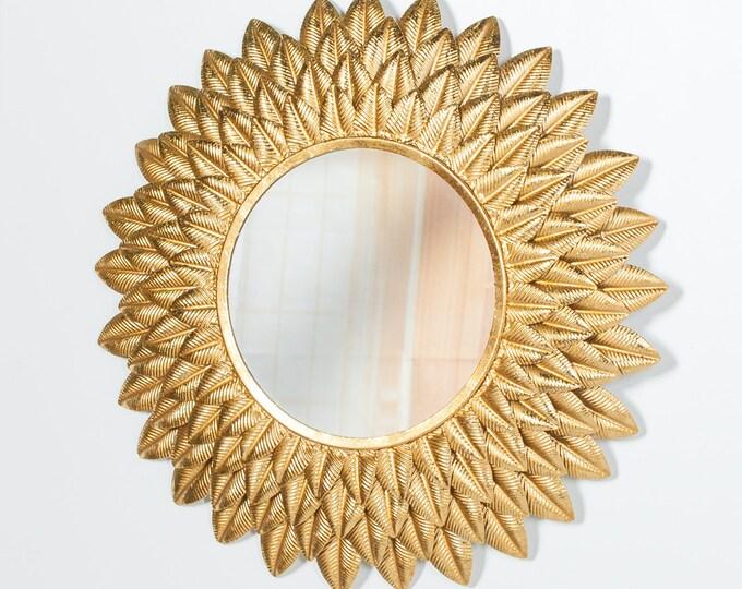 Round 48 cm  Golden Sunflower Wall Mirror