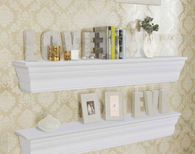 Shabby Chic Baroque Style Wall Shelves x 2