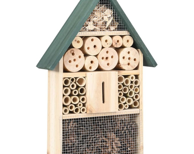 Insect Hotel 31 x 10 x 48 cm Natural Fir Wood