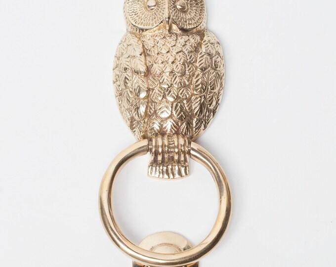 Stunning Polished Brass Owl Shaped Door Knocker