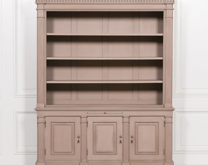 Vintage French Style Large Grey painted Dresser Buffet Unit