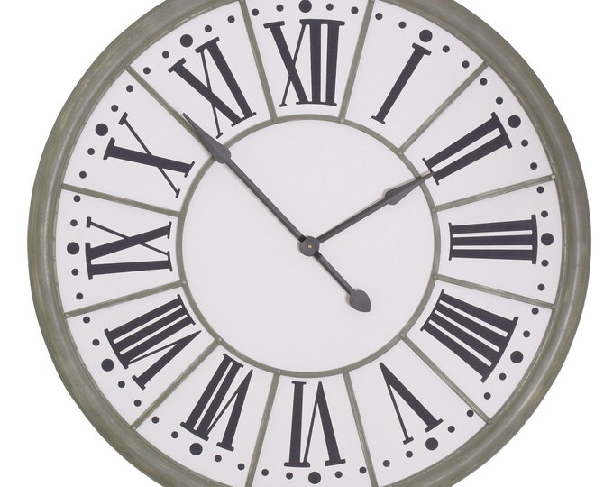 Extra Large 109 cm Zinc Effect Wall Clock