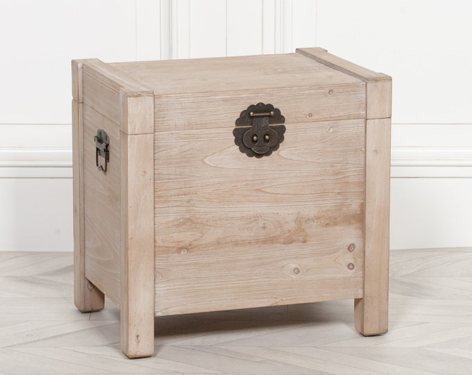 Indonesian Style Storage Chest in Natural Finish Softwood