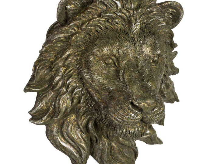 Stunning Lion's Head Wall Sculpture - small