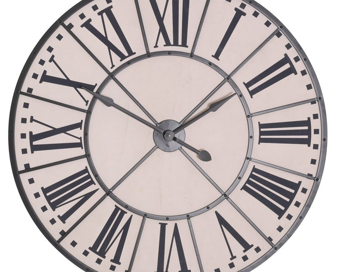 Large 105 cm Vintage Style Metal Wall Clock