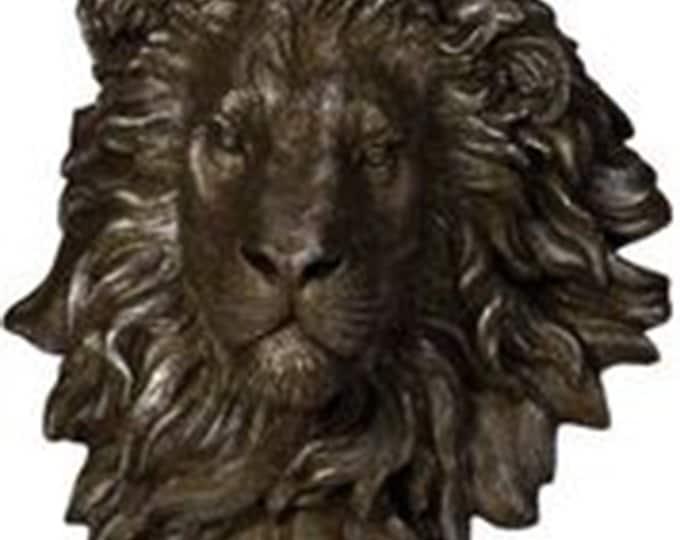 Stunning Lion's Head Wall Sculpture