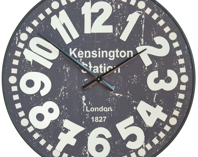 Kensington Station Raised Numerals 81.5 cm Wall Clock