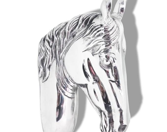 Shabby Chic Style Aluminium Horse's Head Wall Decoration