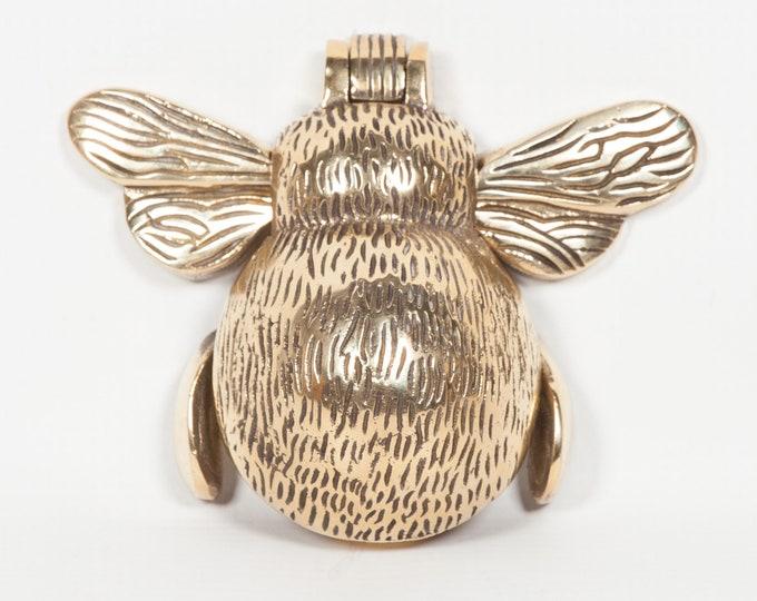 Stunning Polished Brass Bee Shaped Door Knocker