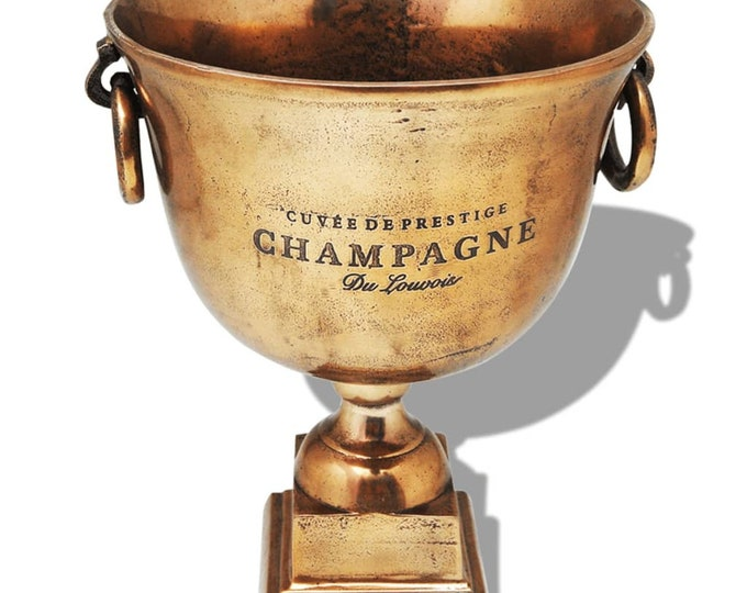 Trophy Style Polished Copper Champagne Cooler / Ice Bucket.
