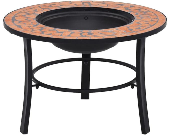 Mosaic 68cm Fire Pit Ceramic & Iron - Colour Choice