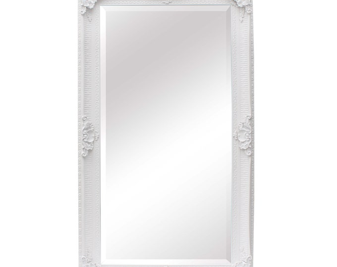 Extra Large Ornate White Painted Wall Mirror