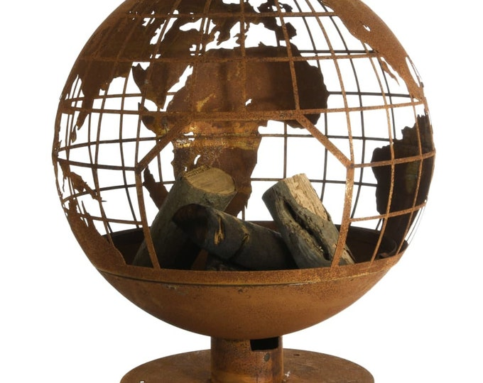 Beautiful Oxidised Metal Fire Pit with Globe Design