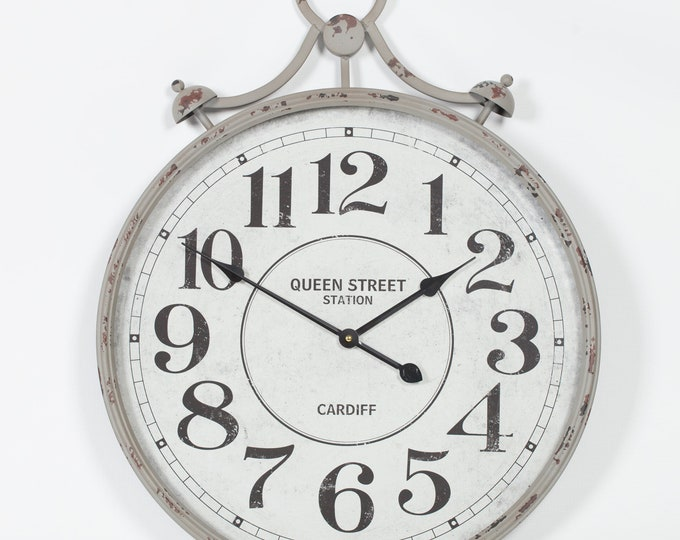 Vintage Pocket Watch Station Style Wall Clock