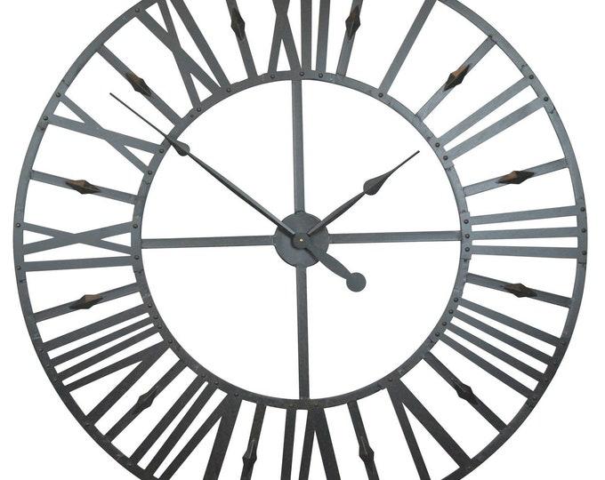 Rustic Extra Large 110 cm Metal Wall Clock