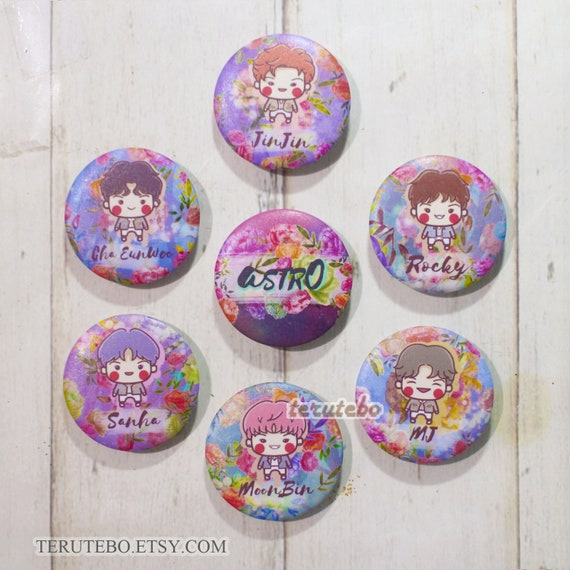 ASTRO ALL NIGHT pin buttons / kpop pins / astro kpop (group set)