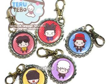 Big Bang kpop (Bae Bae) keychain / pluggy / dust plug/ plug/ earplug / necklace charm