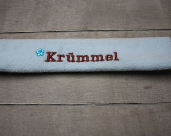 Horse noseband with name