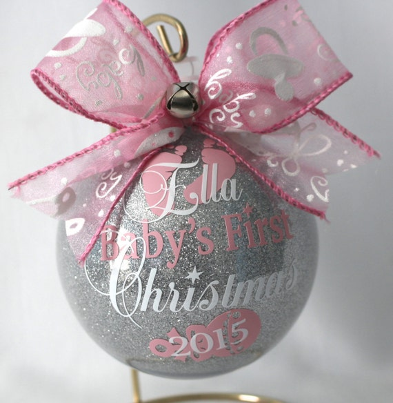 Babys First Christmas Ornament Personalized New Baby Etsy