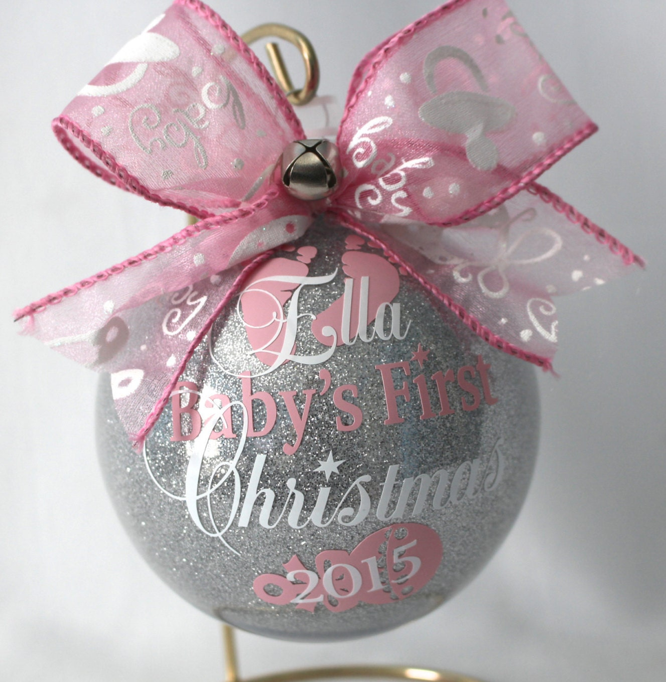 2b0ad46490a9 Baby s First Christmas Ornament personalized New baby