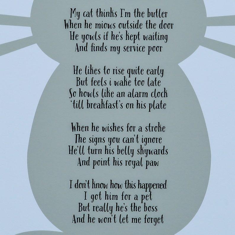 Cats Rule Poem - Cat Poetry Print