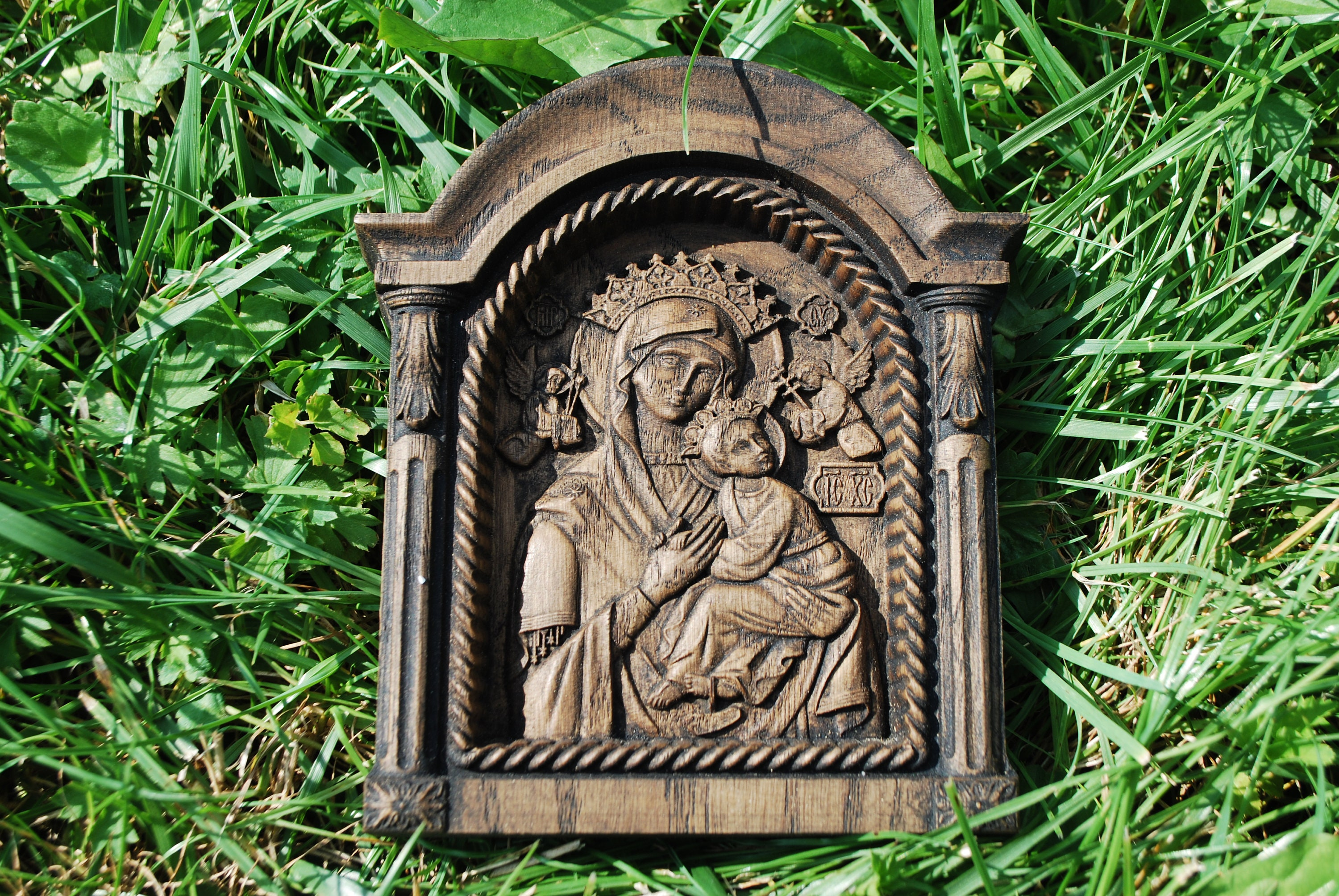 Religious Christmas Tree Ornament Byzantine Icon Virgin Mary Perpetual Help gift